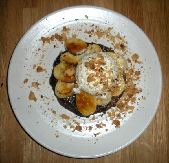 Mesquite bites: Banana chocolate tart